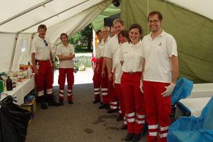 Rote Kreuz - Rettungszelt