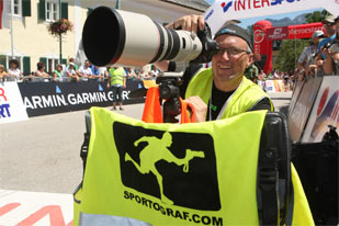 Fotograf im Ziel, Foto: Sportgraf