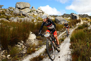 Mountainbiking in Zuid-Afrika
