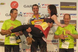 Siegerehrung Einrad Marathon - Salzkammergut Trophy 2012