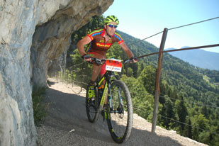 Sander Vonk (NED) Salzkammergut Trophy 2015 - Strecke B (Foto: sportograf.de)