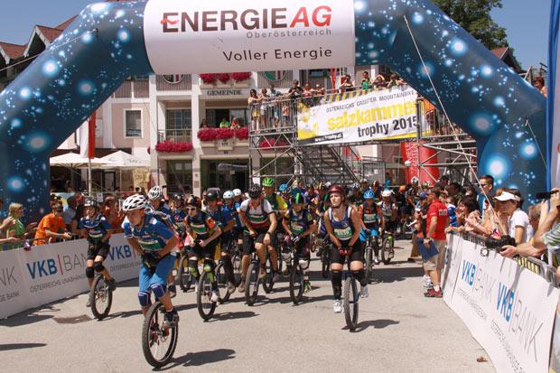 Start Einrad Marathon Bad Goisern (Foto: Kurt Reiter)