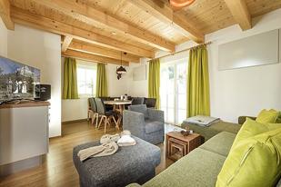 Wohnzimmer in der Hagan Lodge