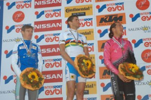 Thomas Dietsch (FRA), Massimo de Bertolis (ITA), Bart Brentjens (NED) - 2004 UCI Mountain Bike Marathon World Champions - (Foto: Armin Küstenbrück - Salzkammergut Trophy)