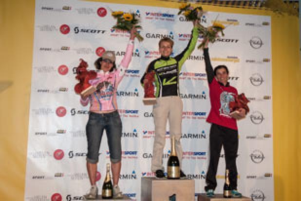 Katja Hentschel (GER), Michela Ton (ITA), Daniela Genovesi (BRA) - Sieger Salzkammergut Trophy 2013 (Foto: Martin Bihounek)