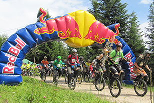 Start Einrad DH Bad Goisern 2012