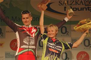 Tomas Trunschka (CZE) und Anita Waiss (AUT) - Trophy Sieger 2007 (Foto: Rudi Knoll - Salzkammergut Trophy)