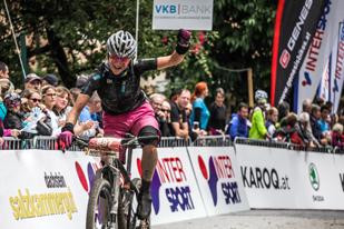 Barbara Mayer (AUT) - Siegerin Salzkammergut Trophy 2017 - Strecke B (Foto: Sportograf)