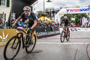 Salzkammergut Trophy 2017 Strecke F - Zielsprint Fabian Costa und Florian Wimmer  (Foto: sportograf.de)