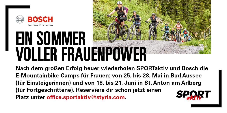 Anzeige SPORTakiv E-Mountainbike-Camp