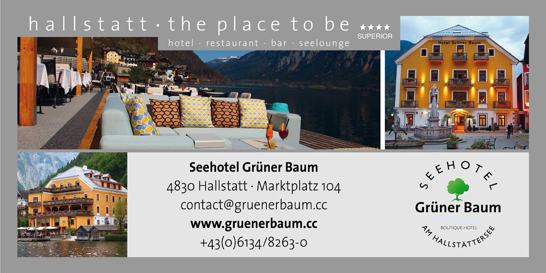 Anzeige Hotel Grüner Baum Hallstatt