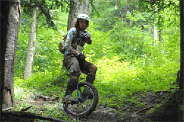 Einrad-Downhill am 17. Juli