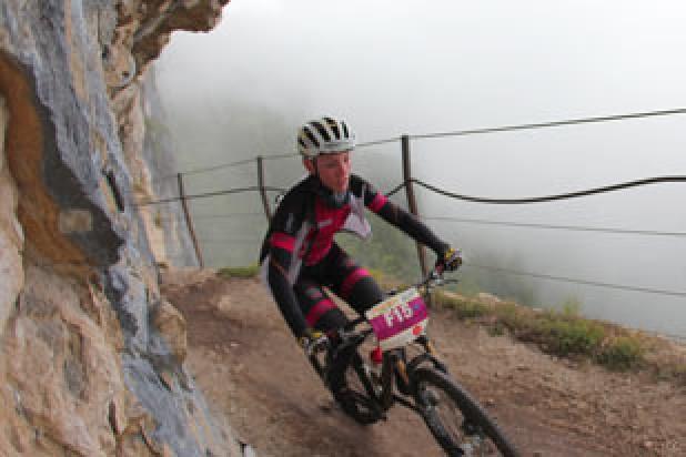 Tina Kindlhofer (AUT) - Siegerin Salzkammergut Trophy 2014 - Strecke F (Foto: sportograf.de)