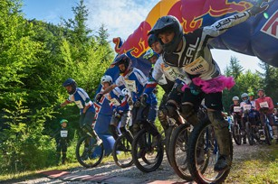 Salzkammergut Trophy 2017 - Start Einrad-Downhill (Foto: Martin Bihounek)