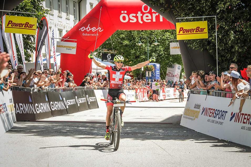 Konny Looser (SUI) - Sieger Salzkammergut Trophy 2018 - Strecke A (Foto: sportograf.de)