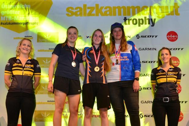 Salzkammergut Trophy - Siegerehrung Einrad-Downhill (Foto: Joachim Gamsjäger)