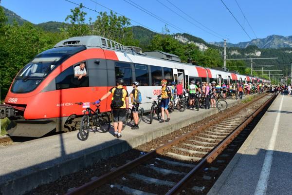 Salzkammergut Trophy - Anreise - Bahnhof Bad Goisern (Foto: Joachim Gamsjäger)