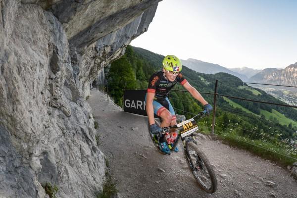 Lukas Kaufmann (AUT) - Salzkammergut Trophy 2018 - Ewige Wand (Foto: sportograf.de)
