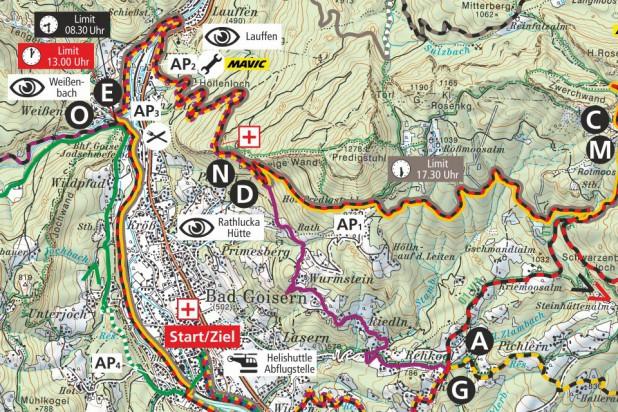 Streckenplan 2019 - Ausschnitt Bad Goisern