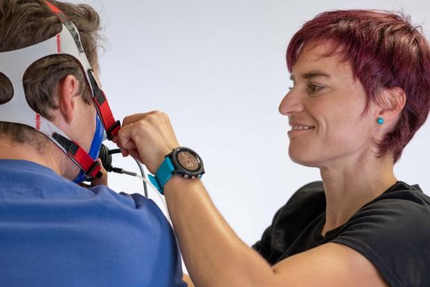 Dr. Anita Birklbauer bei der Spiro-Ergometrie (Foto: sportrix.at)