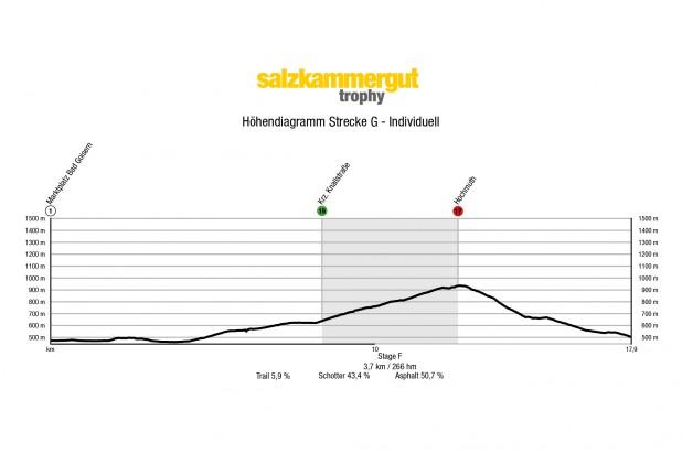 Höhendiagramm Strecke G 2021