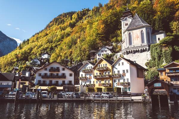Blick vom See (Foto: Heritage.Hotel Hallstatt)