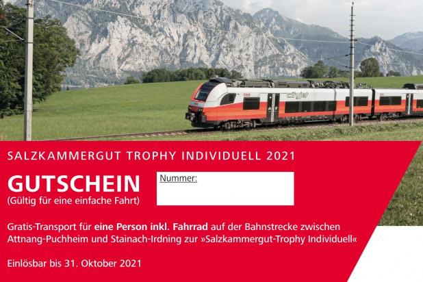 Gutschein Salzkammergut Bahn 2021